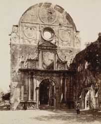 Bassein, Thana District. Entrance to the church of the Jesuits [Church of the Holy Name of Jesus]